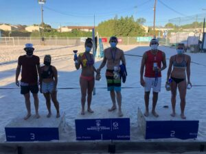 Podium tournoi mixte